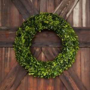 Large Preserve Boxwood Wreath