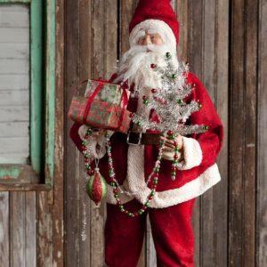 Vintaged Standing or Sitting       Flexible Santa