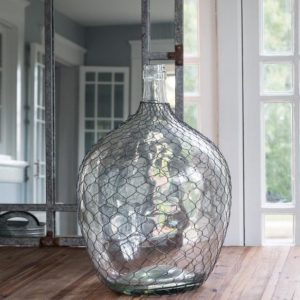 Wire Covered Cellar Bottle