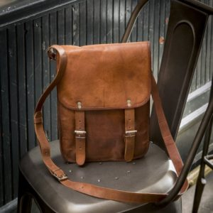 Woman's Leather Messenger Bag