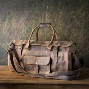 Traveler's Duffle Bag In Buffalo Finish