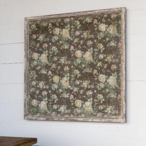 Framed Vintage Rose Wallpaper