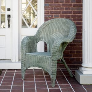 Aged Green Painted Veranda Chair (Set of 2)