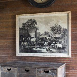 Wooden Frame Farm Print