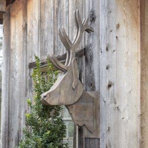 Wooden Elk Head