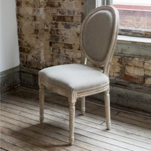 White Washed Dining Chair (set of 2)