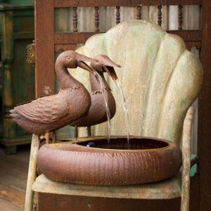Folk Art Duck Fountain