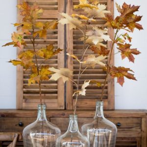 Crafted Autumn Leaves Stem (set of 12)