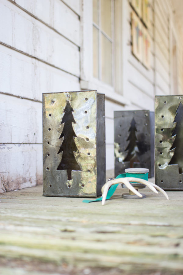 Tin Bag Christmas Tree Luminary - (Includes 6 Boxes with 6 items in each Box)