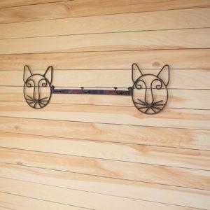Recycled Rustic Metal Coat Rack - Cat