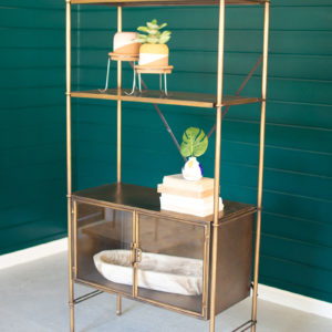 Metal Shelf With Two Bottom Doors