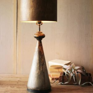 Table Lamp With Metal Base And Shade