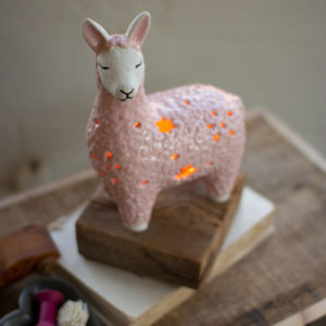 Ceramic Alpaca Night Light