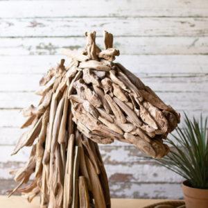Driftwood Horsehead Table Sculpture