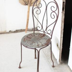 Rustic Metal Bistro Chair