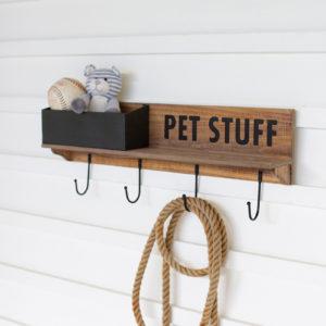 Wood And Metal Pet Stuff Shelf