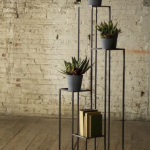 Tall Multilevel Iron Pedestals