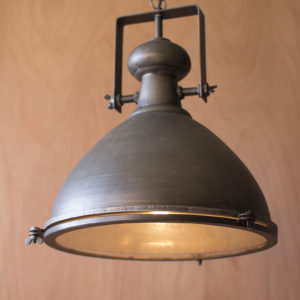 Metal Warehouse Pendant With Glass Cover