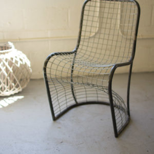 Woven Metal Dining Chair