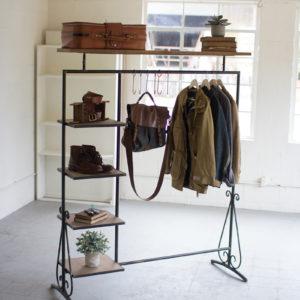 Wood And Metal Display Unit