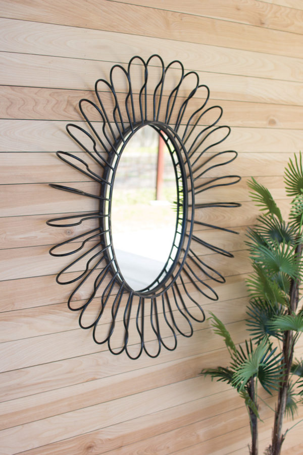 Rolled Wire Wall Mirror