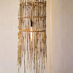Tall Bamboo Pendant Lamp