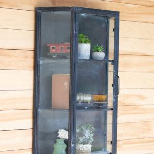 Metal Wall Cabinet With Glass Door