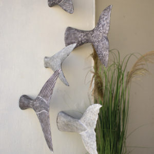 Set Of Five Fish Tale Wall Sculptures