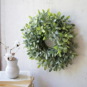 "Artificial Sage Wreath 15"" Dia"