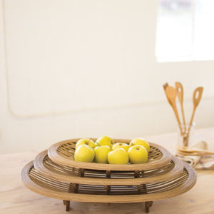 Set Of Three Bamboo Trays