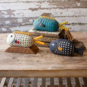Set Of Three Ceramic Fish Sculptures