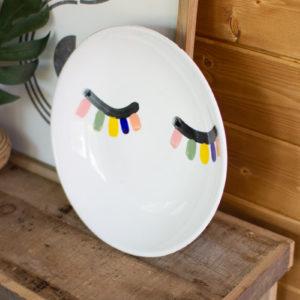 Ceramic Eyes Platter