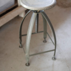 Metal Stool With Adjustable Top - Raw Top W Raw Base