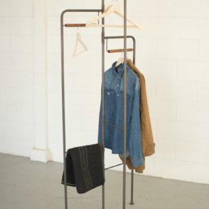 Wood And Metal Folding Display Rack
