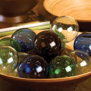 Recycled Glass Ball - Amber - (Includes 6 Boxes with 6 items in each Box)
