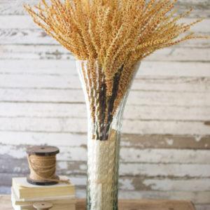 Textured Glass Trumpet Vase