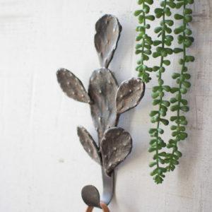 Cast Iron Cactus Coat Rack