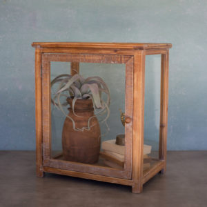 Wood And Glass Display Case - Tall 18X12X21T