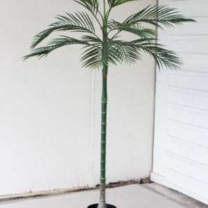 Tall Potted Artificial Palm Tree