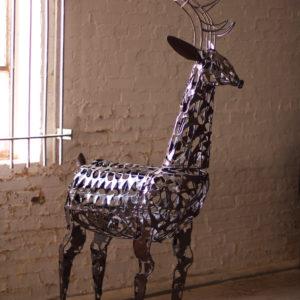 Scrap Iron Deer Sculpture