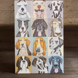 Oil Painting Emotional Dogs