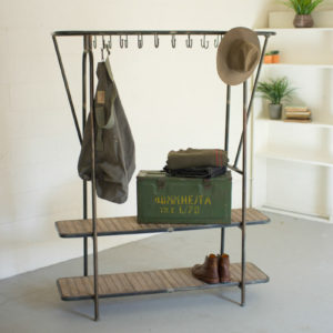 Wood And Iron Display Unit