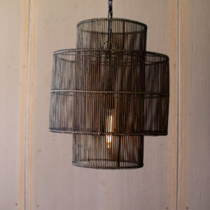 Double Barrel Pendant Light