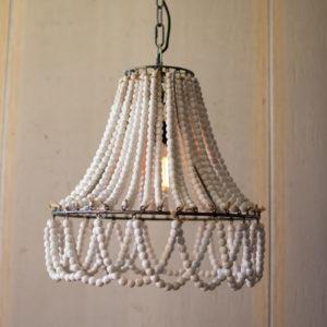 Wood Beads Pendant Light