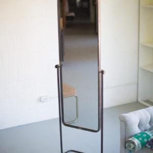 Tall Metal Framed Floor Mirror
