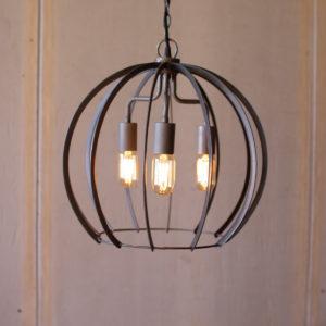 Flat Iron Round Pendant Light