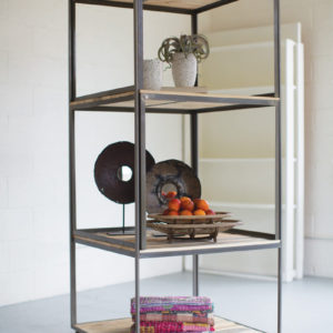 Recycled Wood And Metal Display Unit