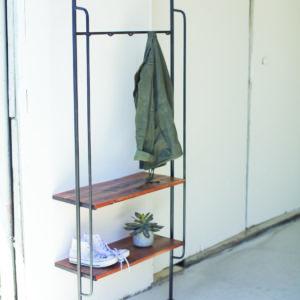 Iron Folding Wall Rack With Mango Wood Shelf