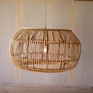Large Round Bamboo Pendant Light
