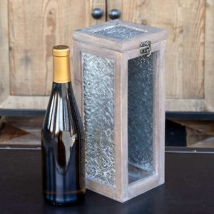 Small Wine Bottle Memory Box
